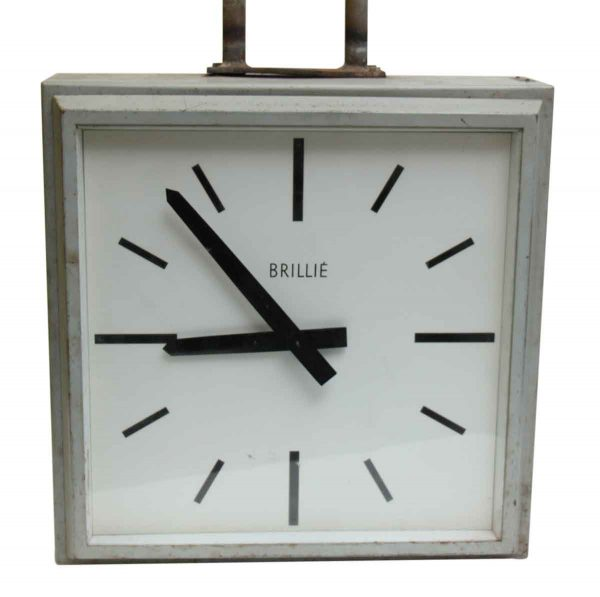 Clocks  - 1960s Double Sided Hanging Brillie Clock