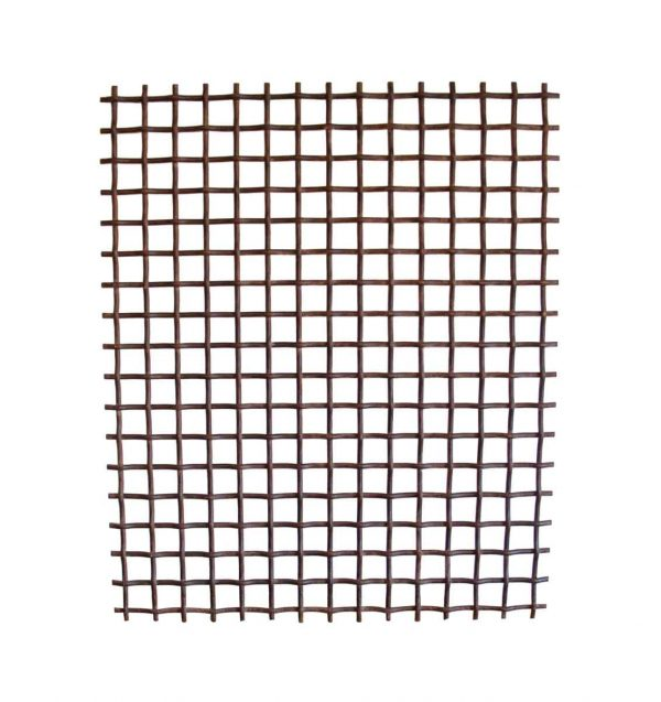 Decorative Metal - Old Woven Wrought Iron Grate