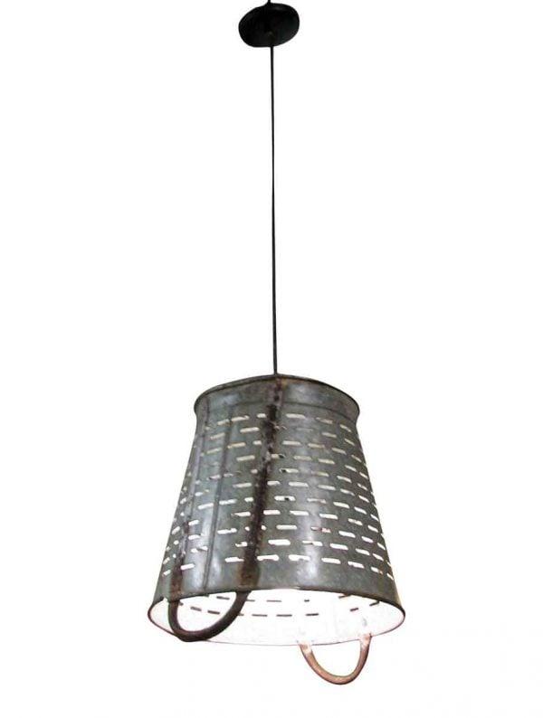Modern Olive Basket 14.5 in. Pendant Light