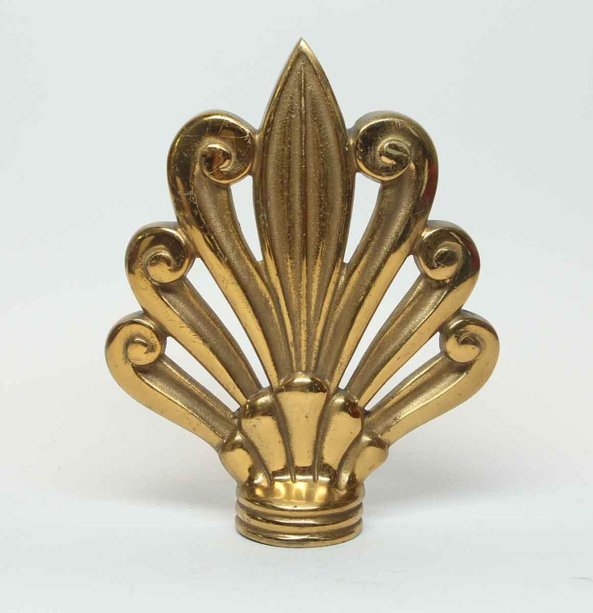 Picture of: Vintage Bronze Fleur De Lis Finial Curtain Rod End Olde Good Things