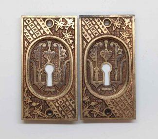 Antique Vernacular Bronze Ceylon Pocket Door Plate