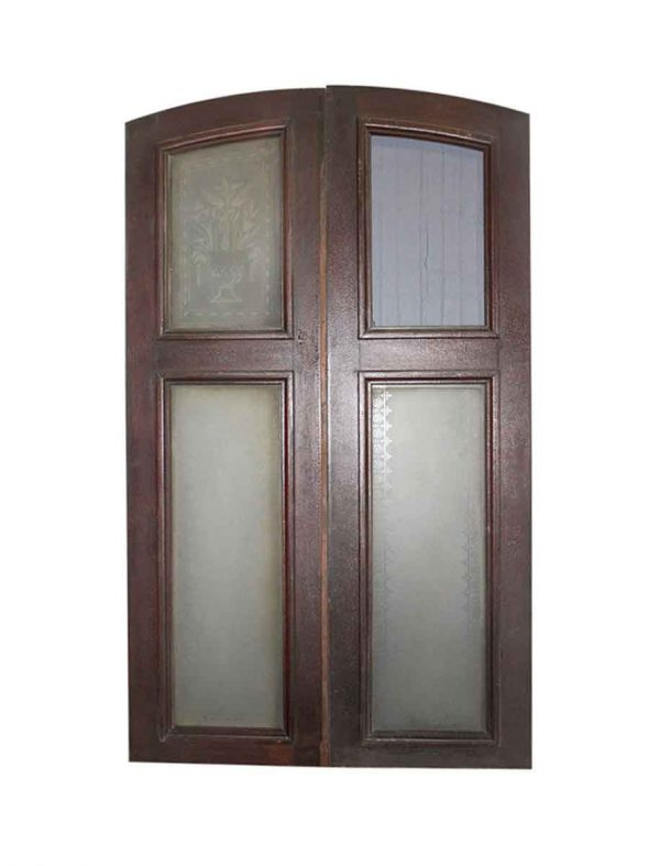 Arched Doors - Antique Arched Brownstone Doors 100.5 x 39.5