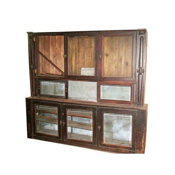 Cabinets - Salvaged 8 ft Pittsburgh Speakeasy Cabinet