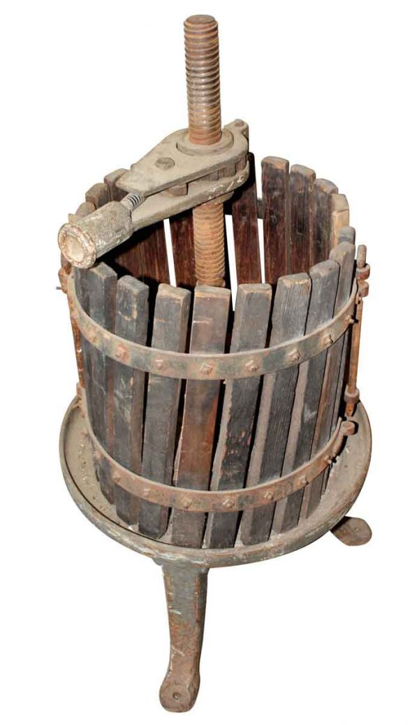 Collectibles - Reclaimed Wooden Olde Wine Press