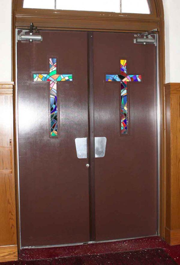 Commercial Doors - 1940s Aluminum Art Deco Church Doors 95 x 63.5
