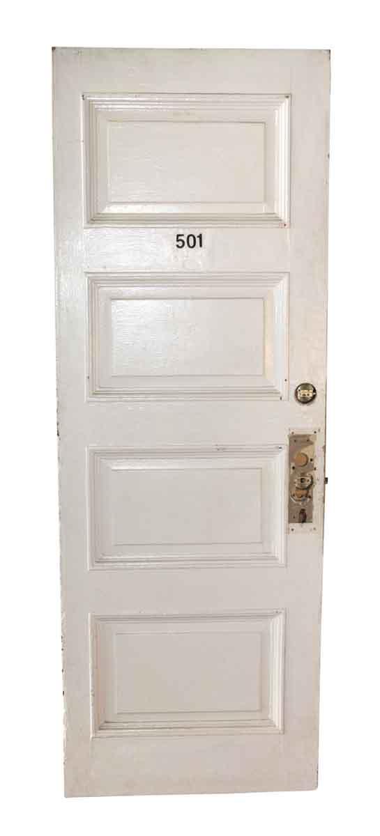 Commercial Doors - Antique 4 Pane Wood Apartment Door 83.5 x 29.75