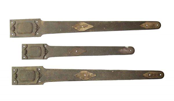 Door Hinges - Set of 3 Arts & Crafts Cast Iron Strap Hinges