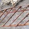 Railings & Posts - Antique Wrought Iron Spiral Staircase Railing