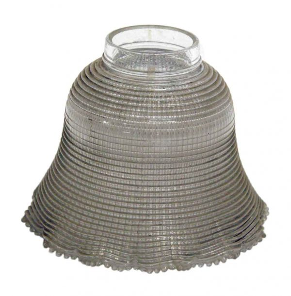 Globes & Shades - Antique Ruffled 7.125 in. Holophane Shade