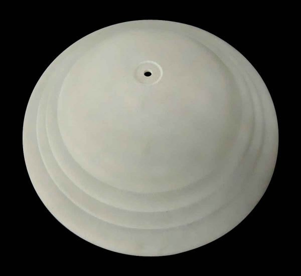 Globes & Shades - Art Deco Glass 19 in. White Light Shade