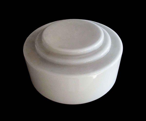 Globes & Shades - Opaline Art Deco 13.5 in. Glass Wedding Cake Globe