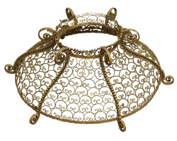 Globes & Shades - Ornate Round Mesh Metal Light Shade