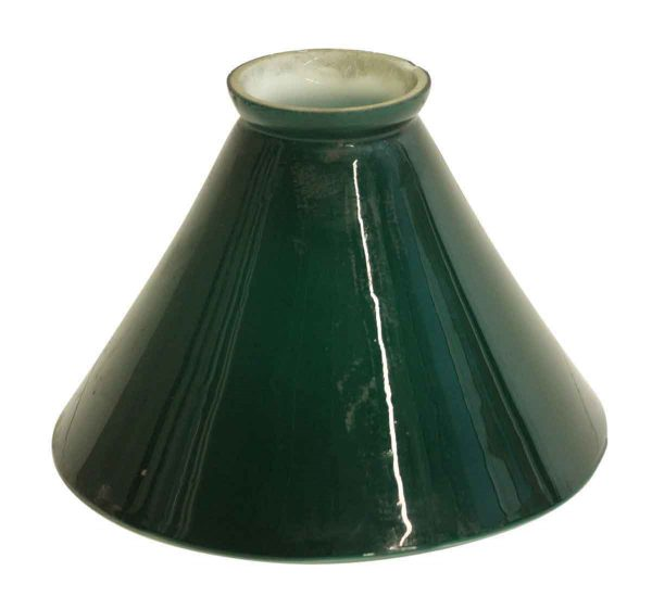 Globes & Shades - Vintage 6.25 in. Green Opaline Glass Shade