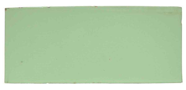 Interior Materials - Rectangular Flat Pale Green Ceramic Tile
