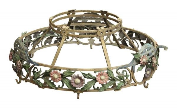 Kitchen - Floral Wrought Iron Kitchen Pot Holder Hook