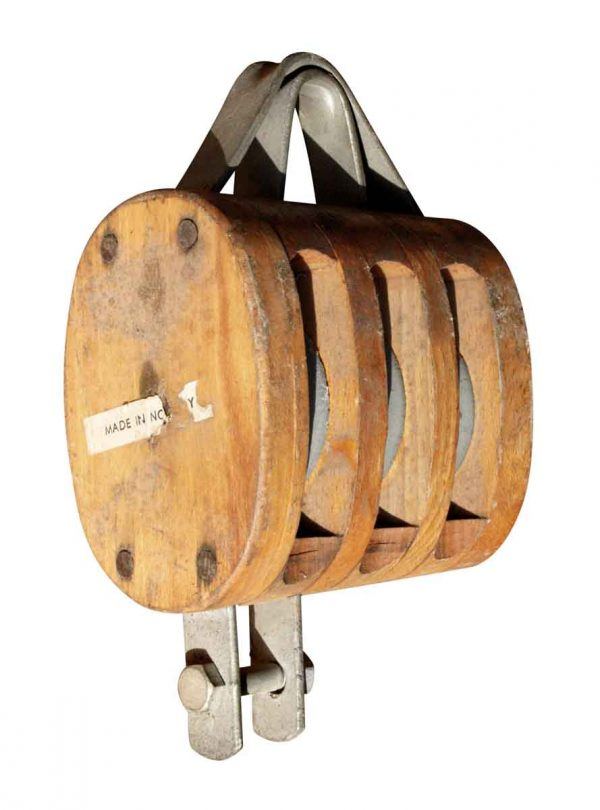 Nautical Antiques - Nautical 7.5 in. Ship Wooden Pulley