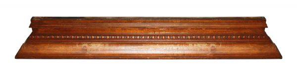 Overmantels & Mirrors - Simple Tiger Oak Pediment Shelf or Over Mantel