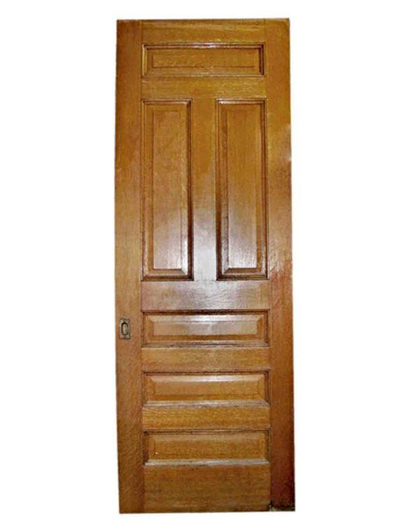 Pocket Doors - Antique Oak Pocket Door with Wheels 95.5 x 36