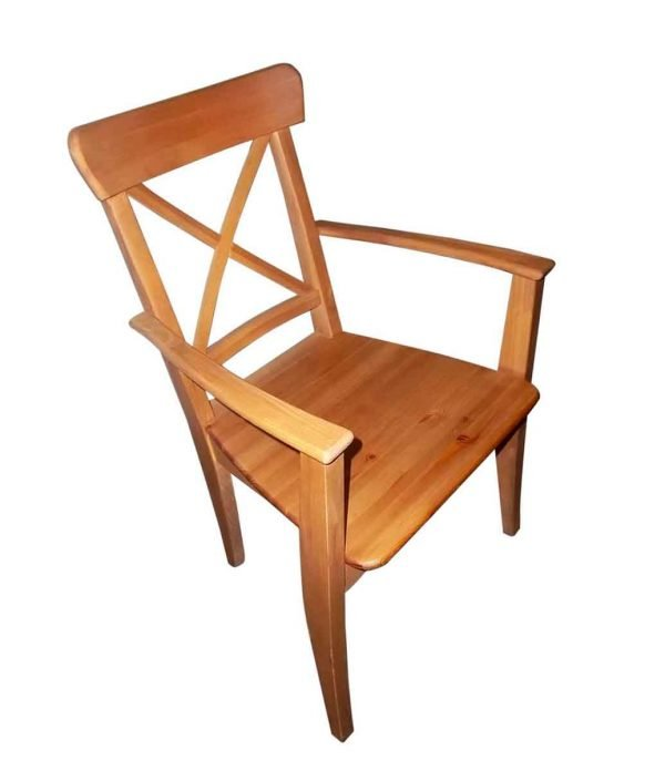 Seating - Vintage Cross Slat Back Pine Armchair