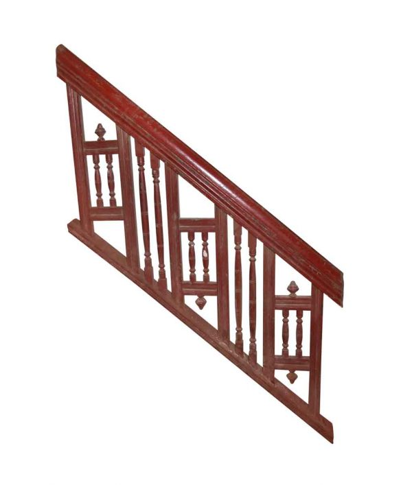 Staircase Elements - Reclaimed 56 in. Wooden Stair Railing Section