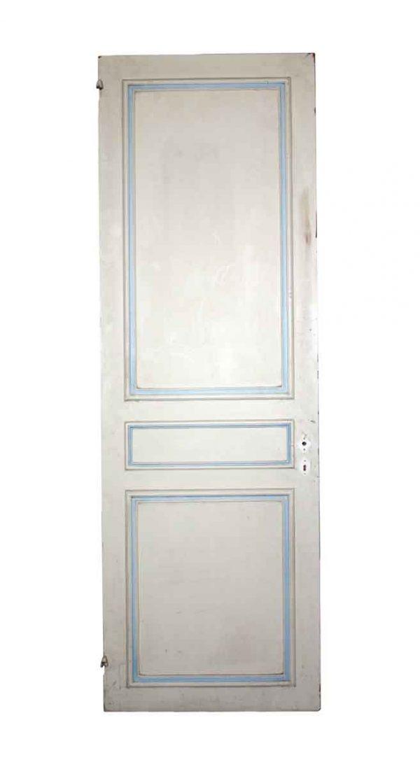 Standard Doors - Antique 3 Pane White Wood Passage Door 81.5 x 26.5