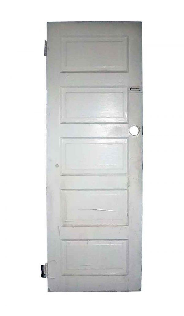 Standard Doors - Antique 5 Pane White Wood Privacy Door 76 x 28.25