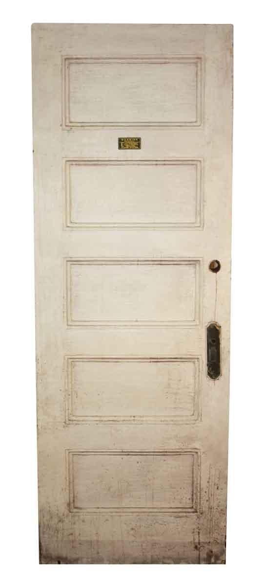 Standard Doors - Antique 5 Pane Wood Privacy Door 83.75 in. H x 29.5