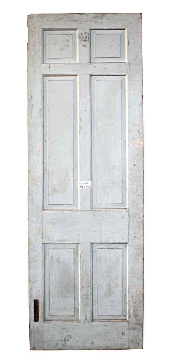 Standard Doors - Antique 6 Pane White Wood Passage Door 93.5 x 32.5