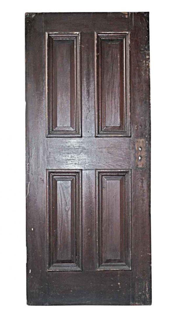 Standard Doors - Antique Oak 4 Pane Passage Door 70.5 x 30.25