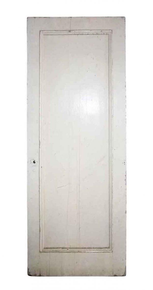 Standard Doors - Vintage Single Pane White Wood Passage Door 81 x 31