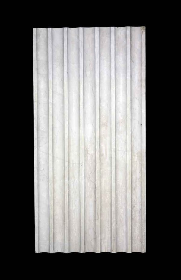 Stone & Terra Cotta - Fluted Section of Marble Pilaster