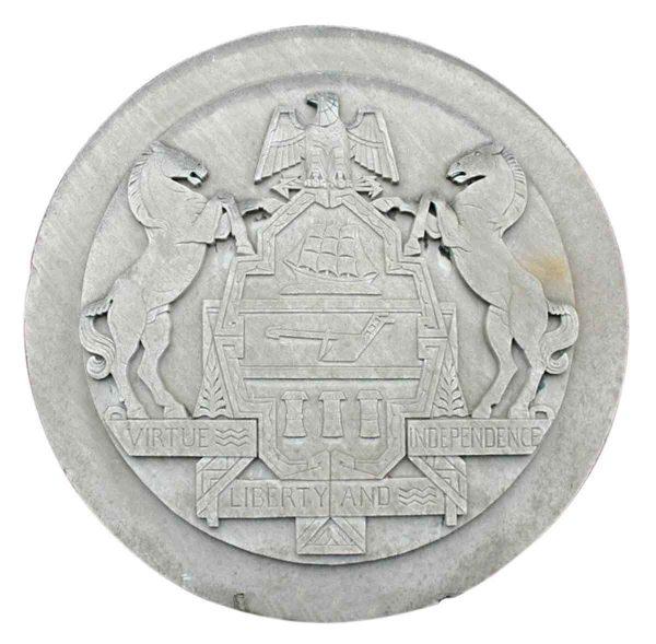 Stone & Terra Cotta - Pennsylvania Seal Frieze from Philadelphia Civic Center