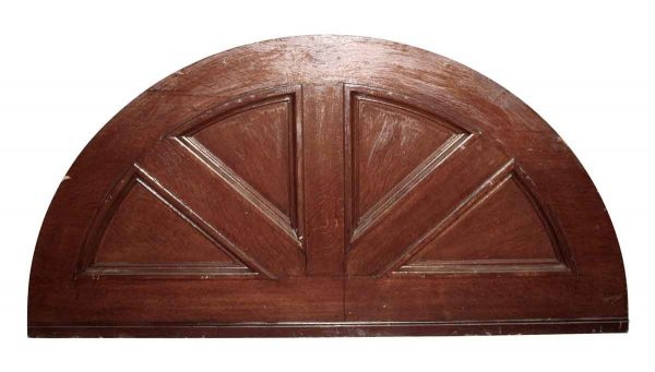 Door Transoms - Tiger Oak Arched Transom Door Pediment 34 x 78.25