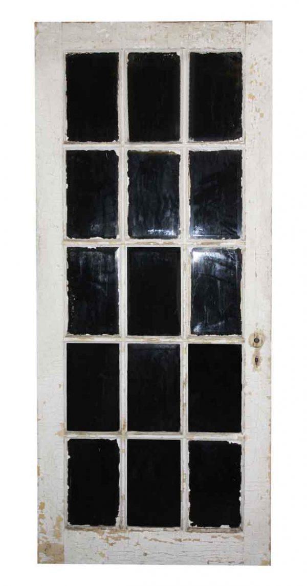 French Doors - Antique 15 Lite Wood French Door 81.5 x 33.75