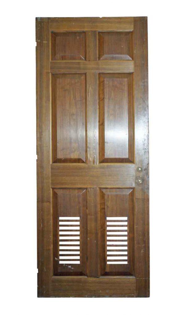 Specialty Doors - Vintage 6 Pane Louvre Closet Door 81 x 32