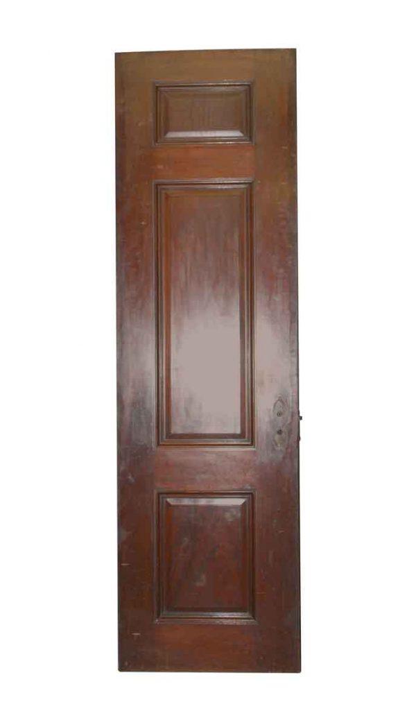Standard Doors - Antique 3 Pane Mahogany Passage Door 93.5 x 27.25