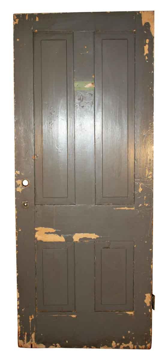 Standard Doors - Antique 4 Pane Wood Privacy Door 78.125 x 31.75