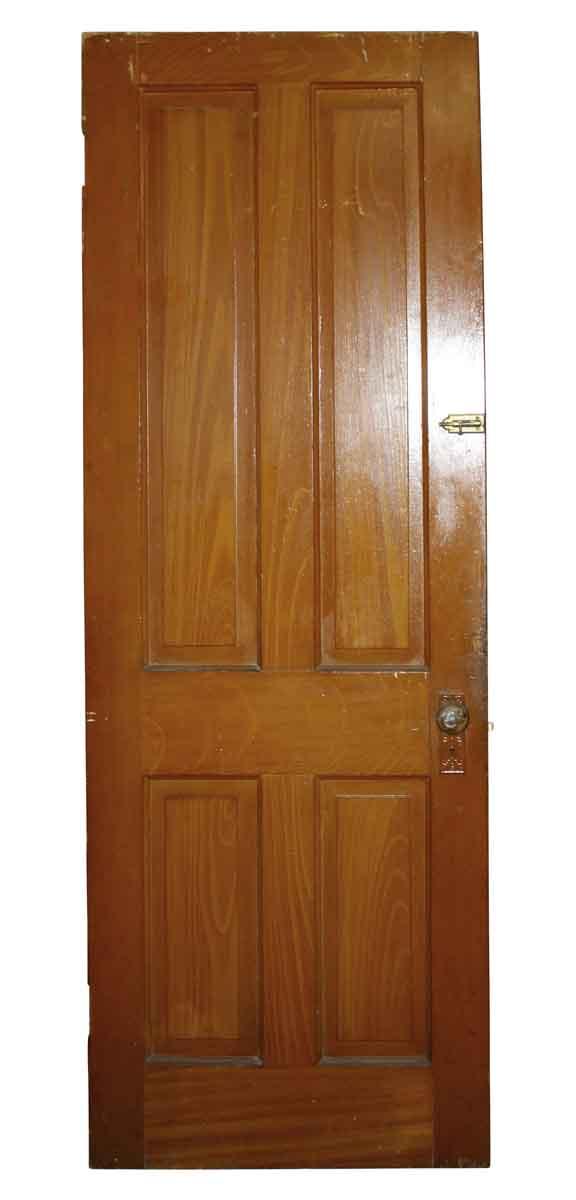 Standard Doors - Antique 4 Pane Wood Privacy Door 78.25 x 28.25