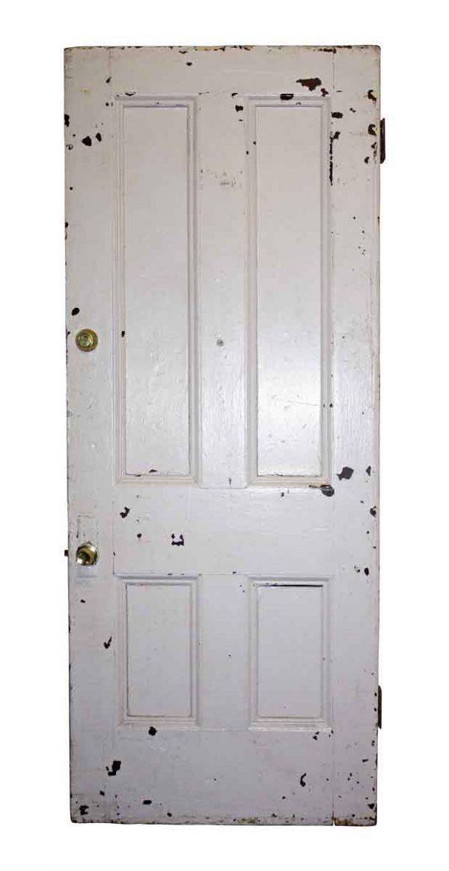 Standard Doors - Antique 4 Pane Wood Privacy Door 89.5 x 35.75