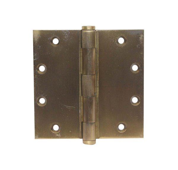 Door Hinges - Vintage Corbin Button Tip Brass Butt 5 x 5 Door Hinge