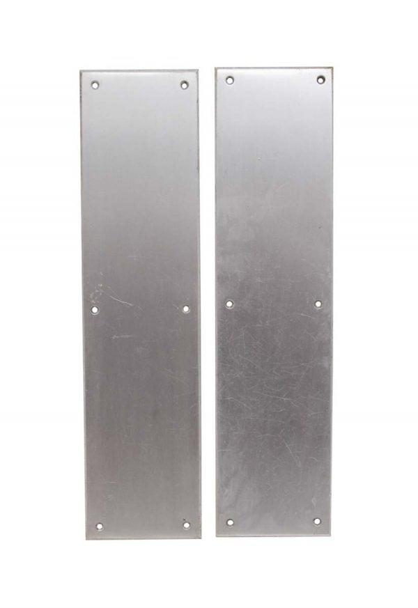 Push Plates - Pair of Classic 16 in. Aluminum Door Push Plates