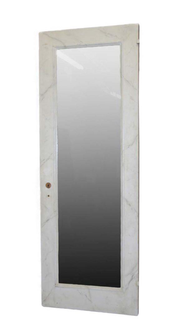 Closet Doors - Antique 3 Pane Mirrored Wood Closet Door 82.5 x 29.75