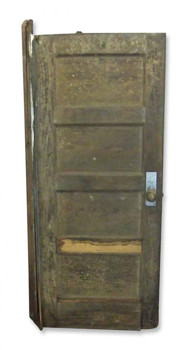 Commercial Doors - Antique 4 Pane Wood Passage Door with Closer 72 x 29.5