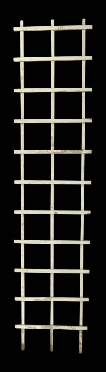 Garden Elements - Reclaimed 11 ft White Wooden Trellis