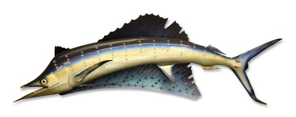 Nautical Antiques - Vintage 7.5 ft Wooden Fish Wall Decor