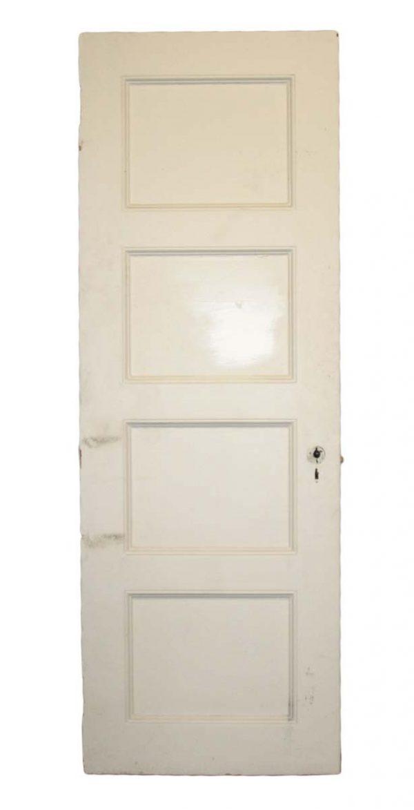 Standard Doors - Vintage 4 Pane White Wood Passage Door Sizes Vary