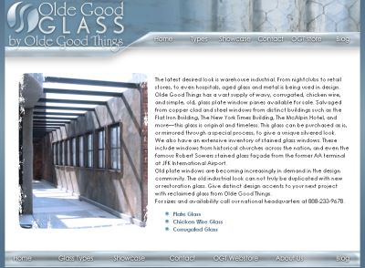 Corrugated glass and antique mirrored glass
